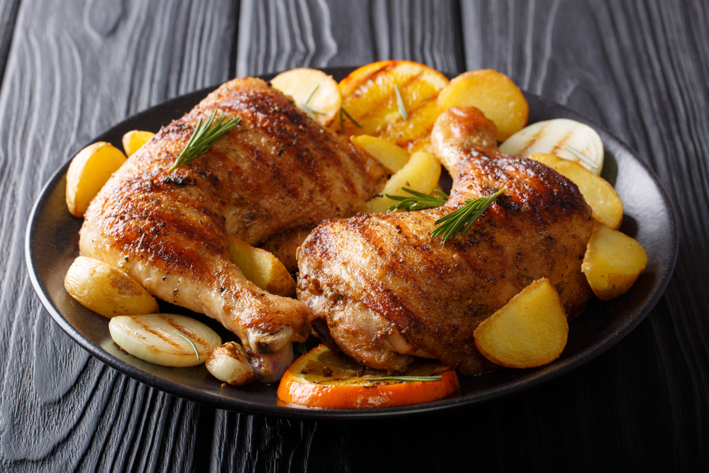 Картофель с куриными ножками фото