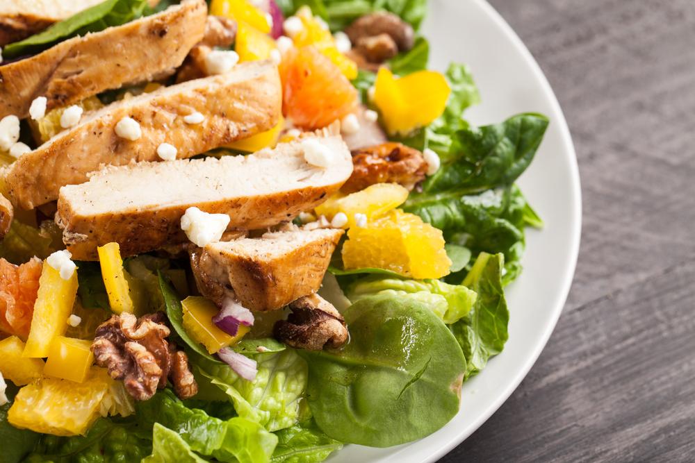Куриный салат с апельсином и фетой фото