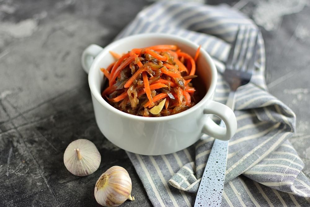 Морковь по-корейски с баклажаном рецепт