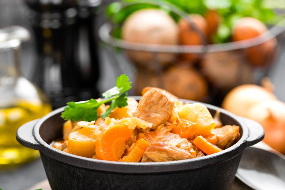 Мясо с картошкой и капустой фото