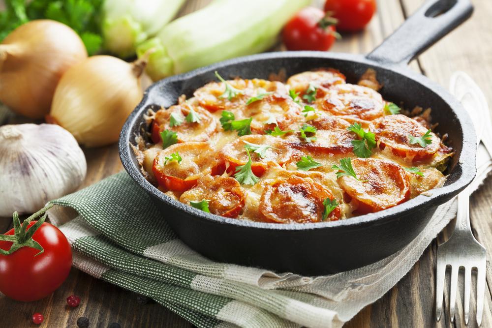 Кабачки с помидорами и сыром рецепт
