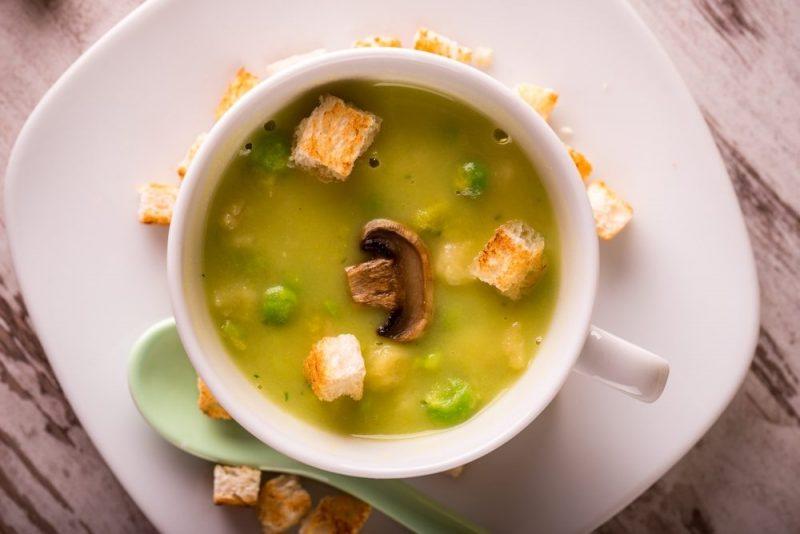 Грибной гороховый суп рецепт
