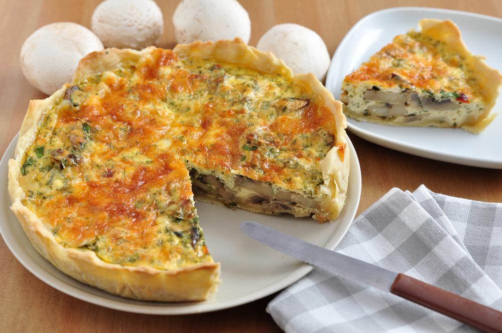 Пирог с грибами и сыром фото и рецепт