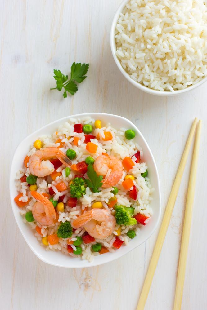 Салат с креветками и рисом рецепт