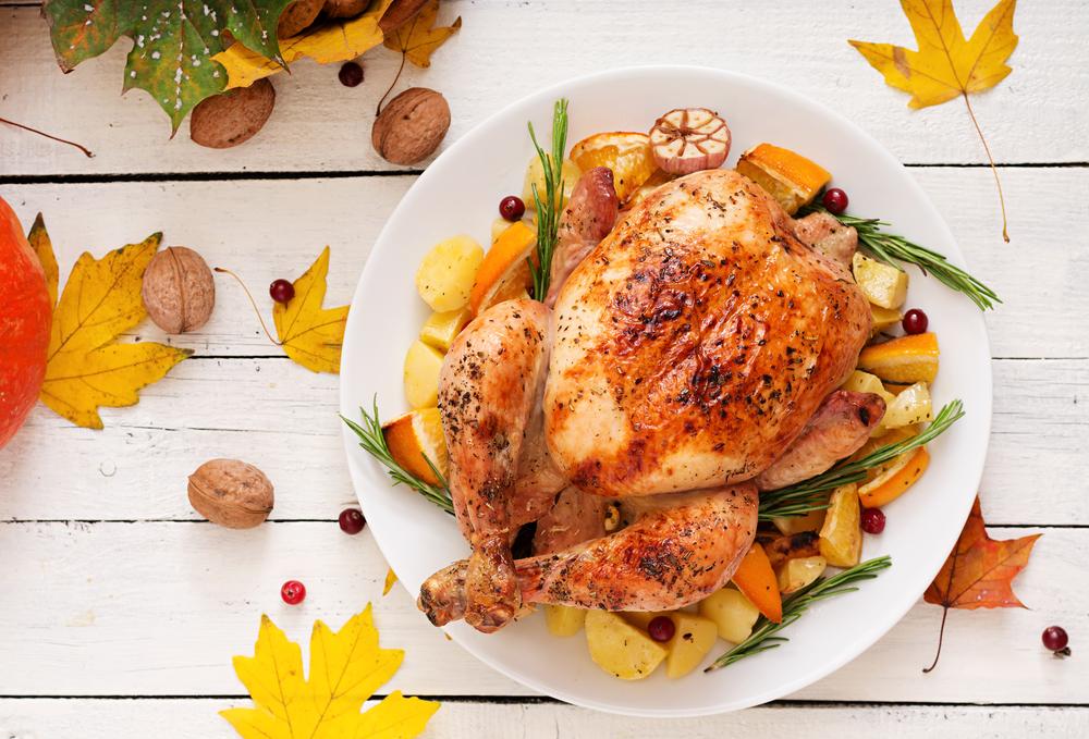 Фаршированная курица с картофелем фото