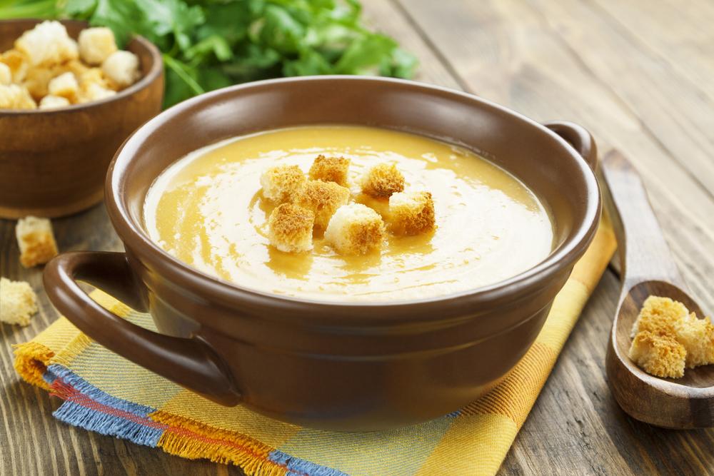 Фасолевый суп-пюре фото