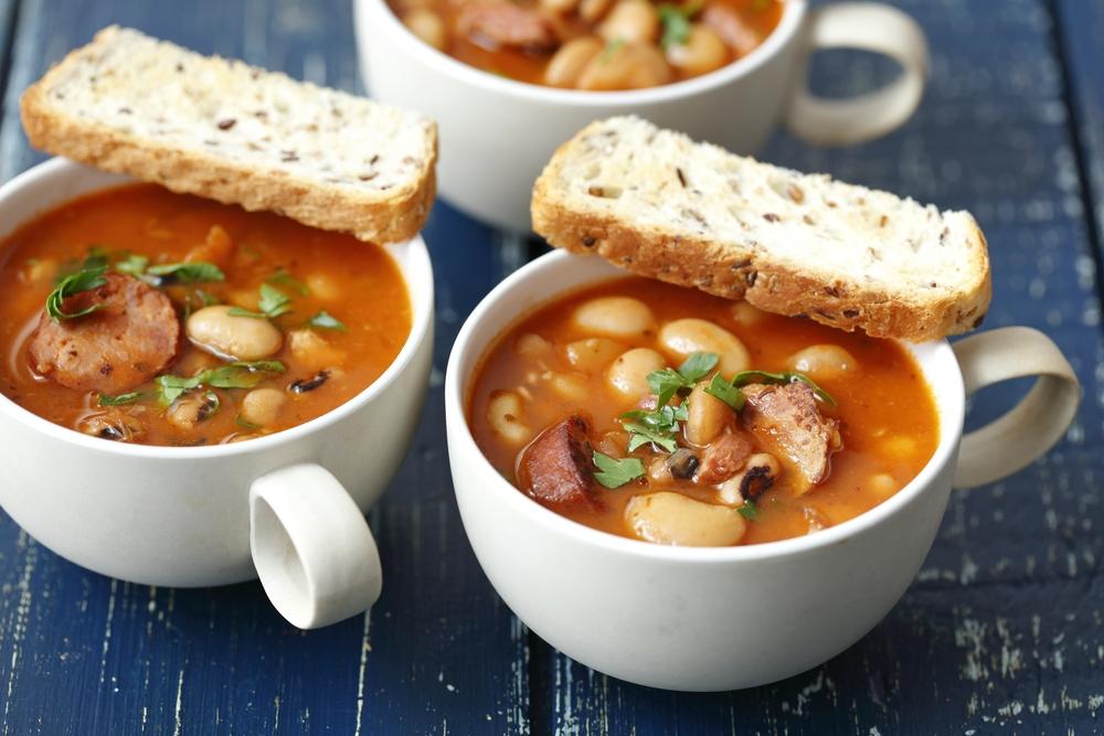 Фасолевый суп с мясом рецепт