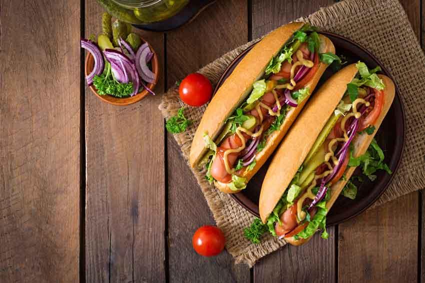 Хот-дог с овощным ассорти рецепт