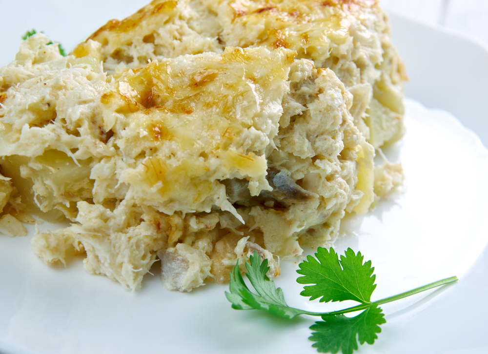 Картофельная запеканка с минтаем рецепт