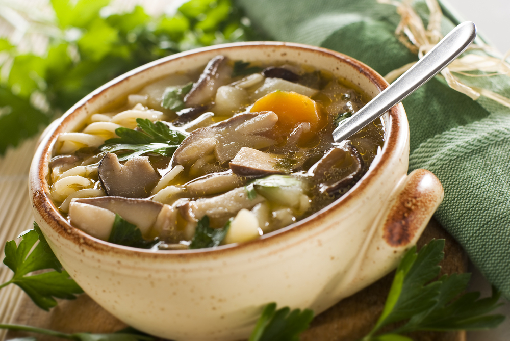 Картофельный суп с грибами рецепт