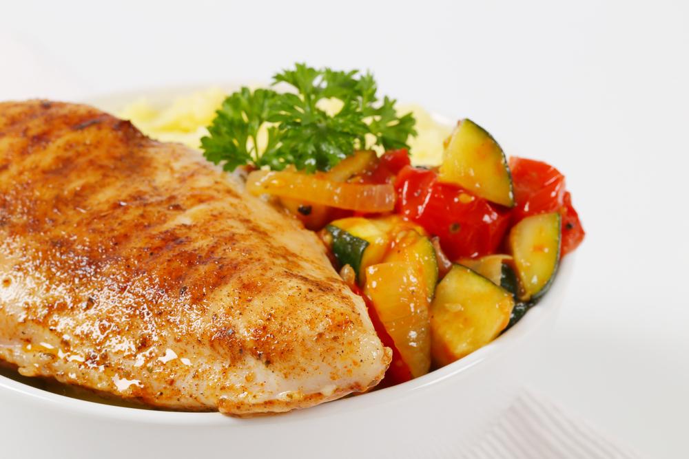 Курица с картофелем и кабачками фото