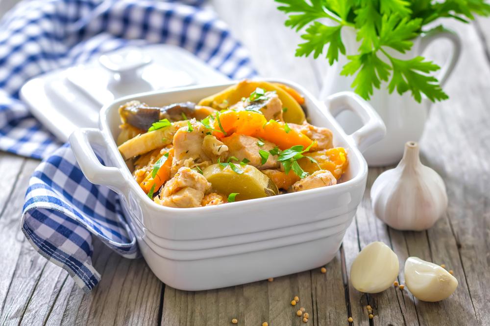 Курица с картошкой и кабачками фото