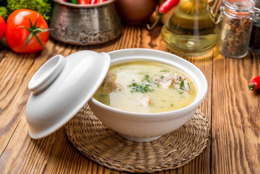 Куриный суп с колбасным сыром фото