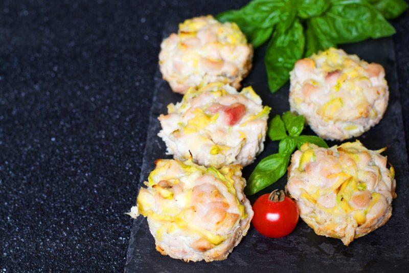 Мясные маффины с кабачком рецепт