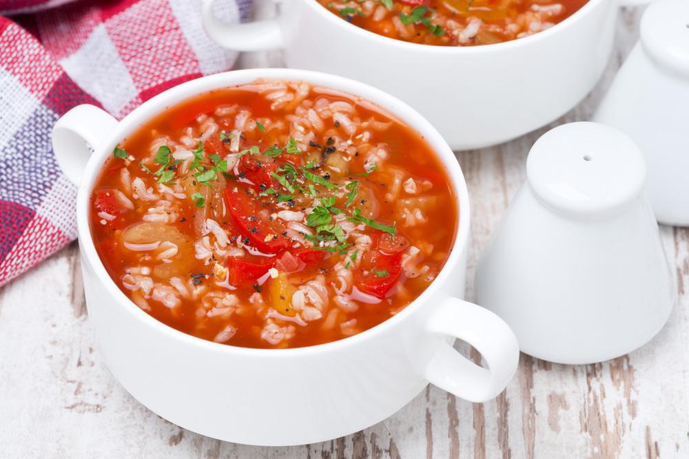 Овощной суп с рисом рецепт