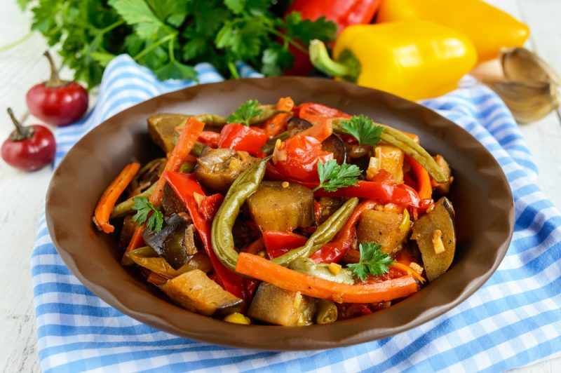 Перец болгарский с фасолью и морковью рецепт