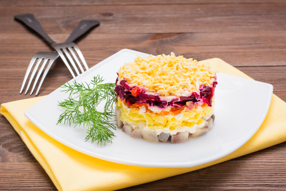 Рецепт селедки под шубой с яйцом рецепт