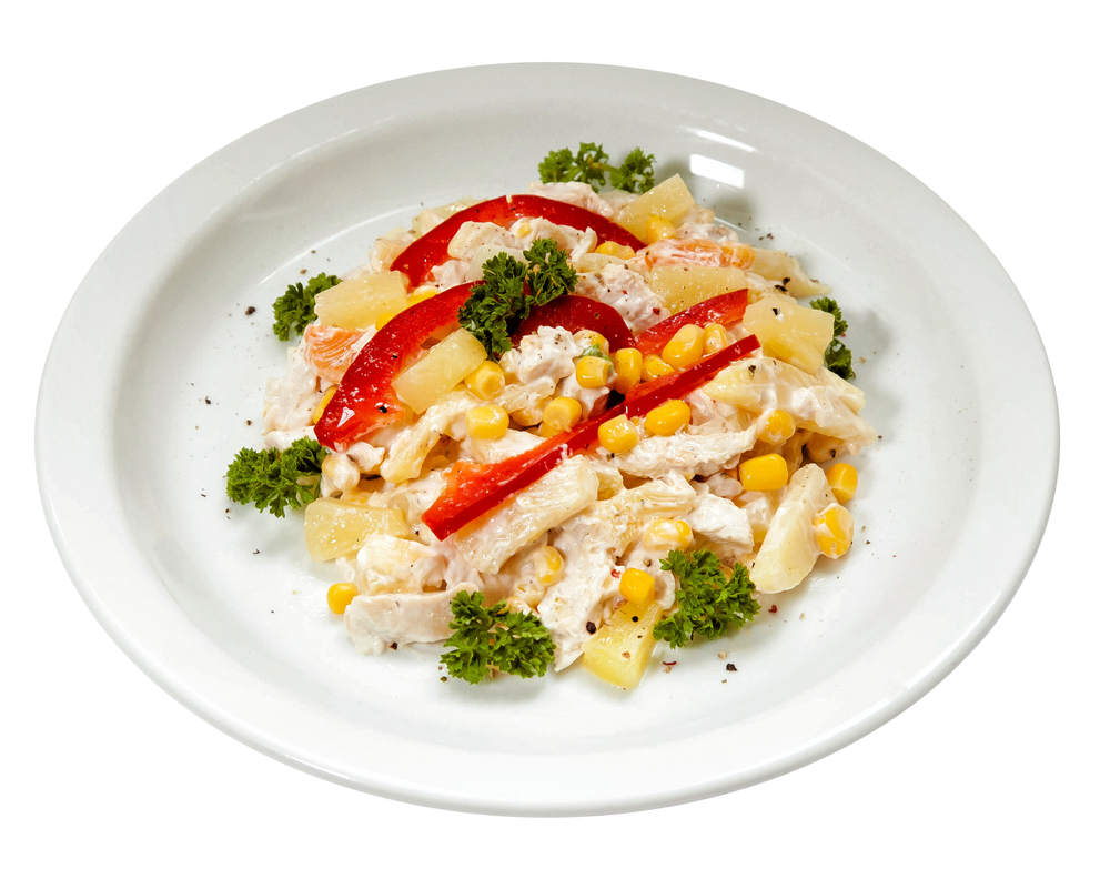 Салат из куриной грудки с кукурузой фото