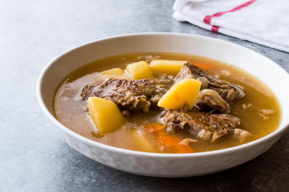 Суп из баранин с картофелем фото