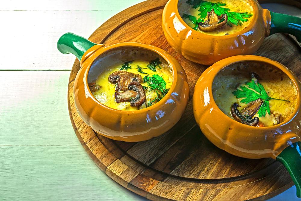 Суп с шампиньонами и плавленным сыром рецепт