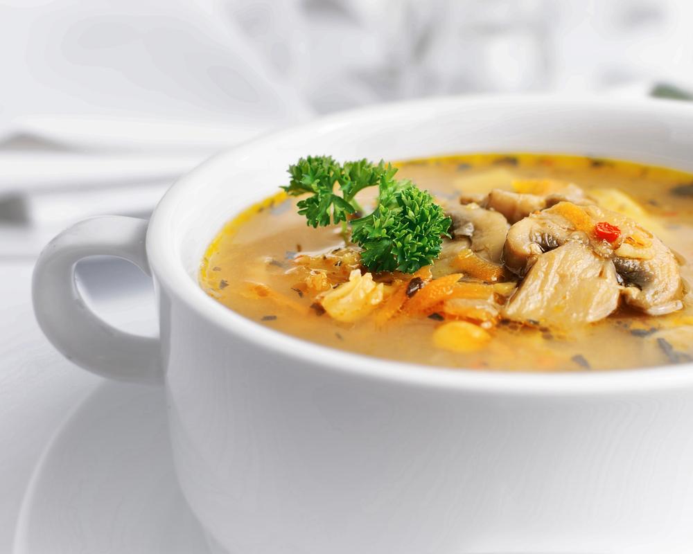 Суп с горохом и шампиньонами рецепт