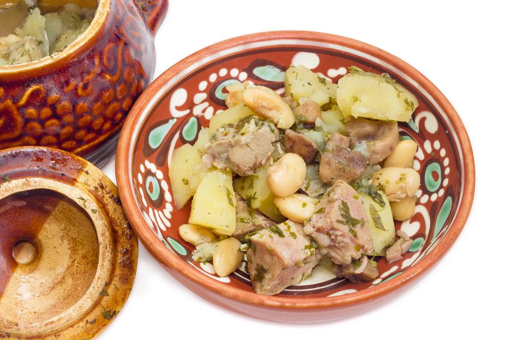 Свинина с грибами и картошкой фото