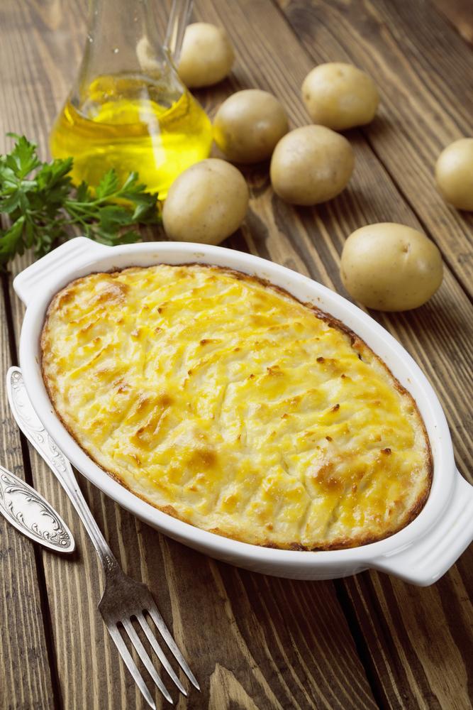 Запеканка из картофельного пюре фото