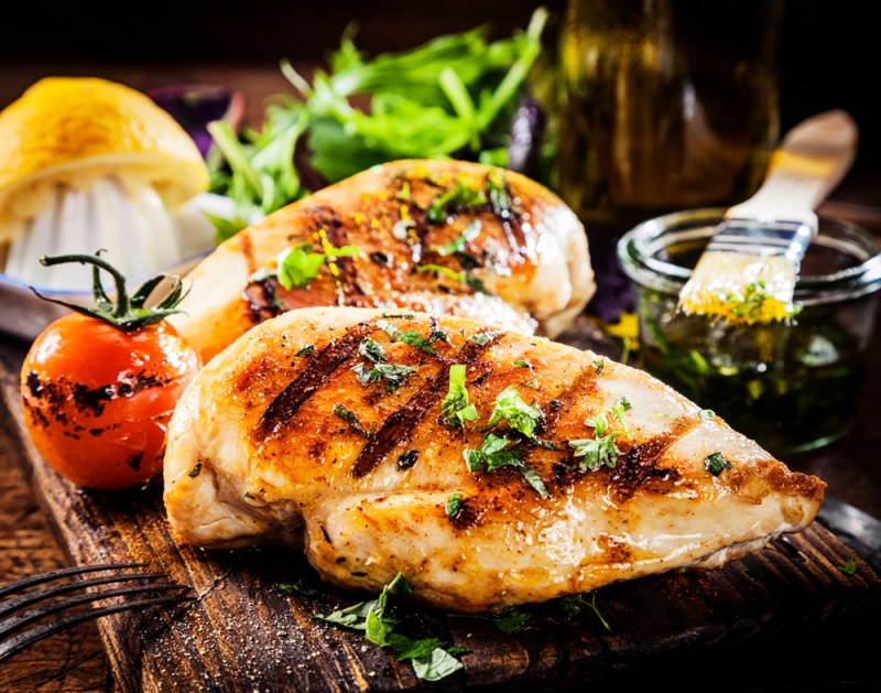 блюда из грудки с гарниром