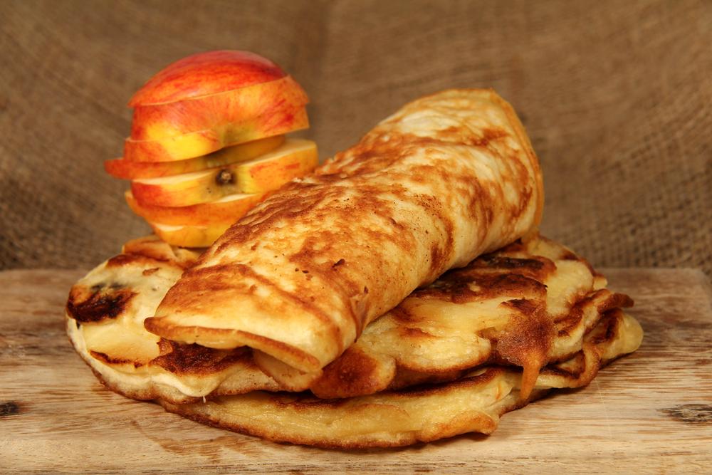 Блины с яблоками рецепт