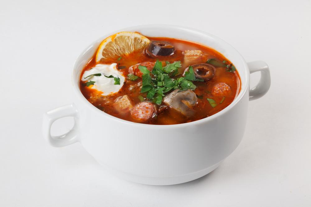Солянка с маринованными грибами рецепт
