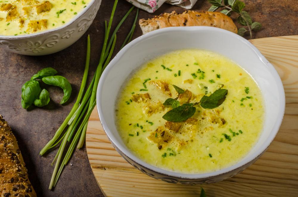 Суп-пюре из курицы с цветной капустой фото