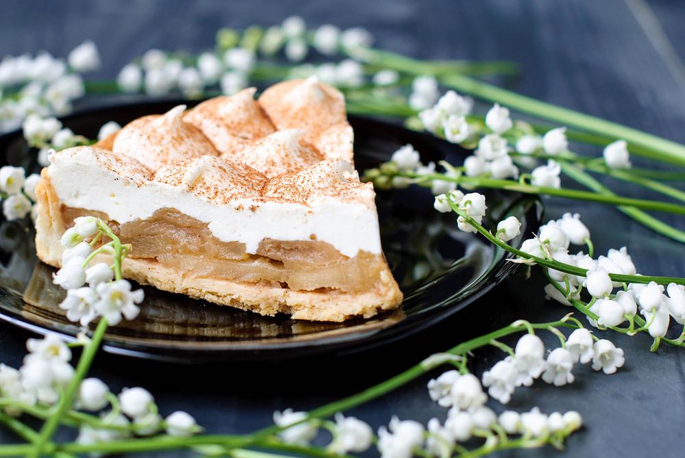 яблочный пирог со сметаной рецепт