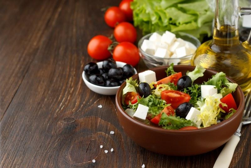 Греческий салат с другим сыром