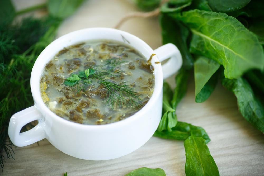 Холодный щавелевый суп фото