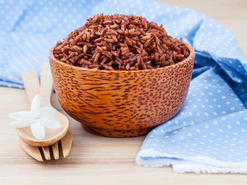Красный рис готовый рецепт