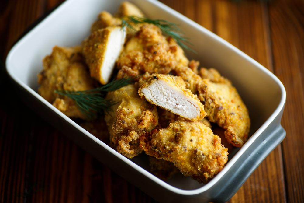 Куриная грудка в кефирном кляре рецепт