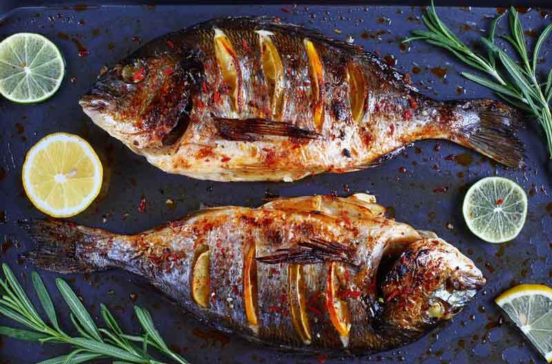 Рыба с лимоном фото