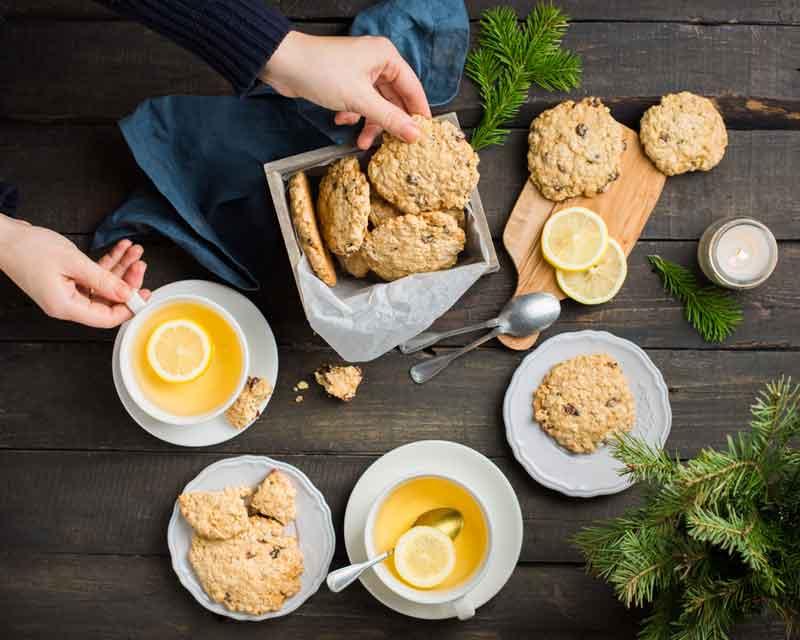 Лимонное овсяное печенье рецепт