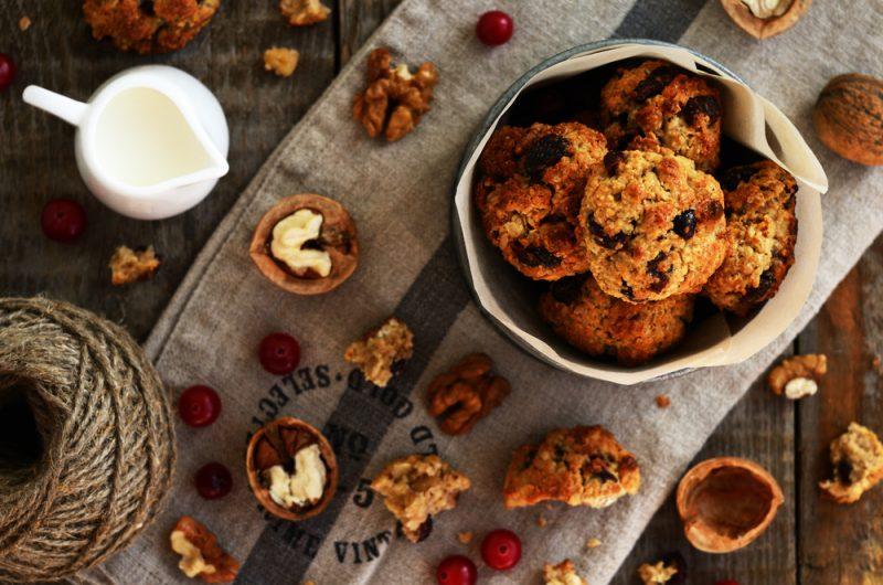 Овсяное печенье с грецким орехом рецепт