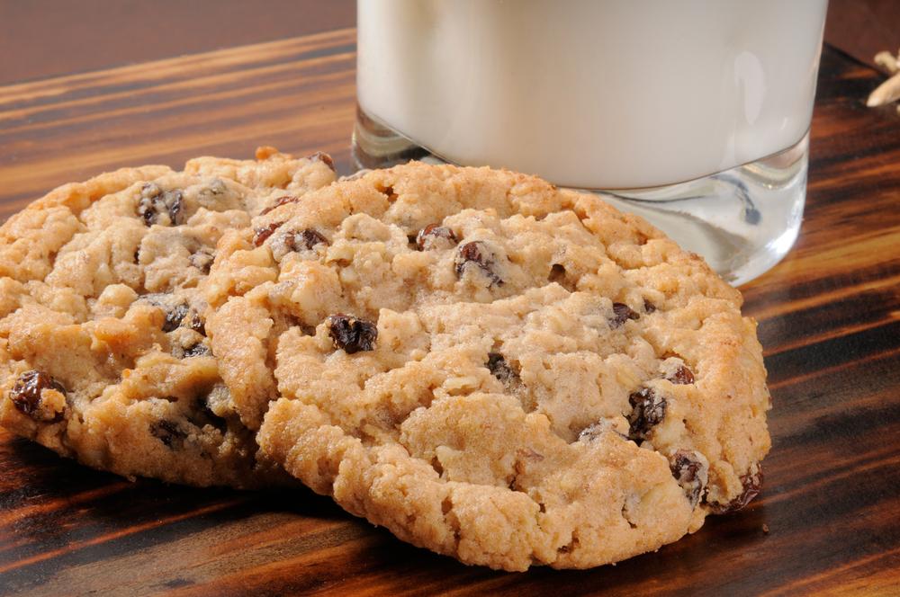 Овсяное печенье с изюмом рецепт