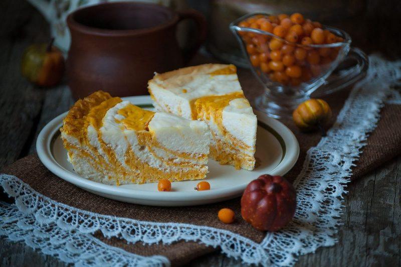 Творожно-тыквенный десерт рецепт
