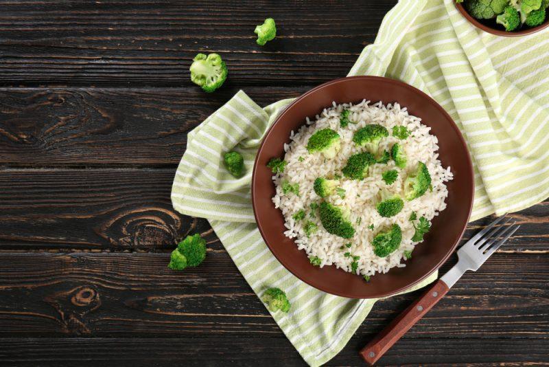 Брокколи с рисом рецепт