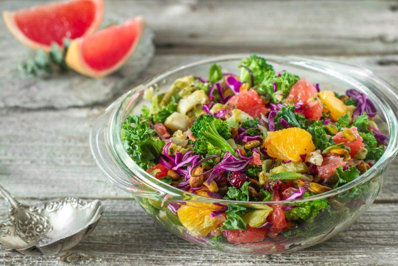 gГрейпфрутовый салат с фисташками рецепт