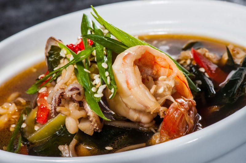 Мисо-суп с морепродуктами рецепт