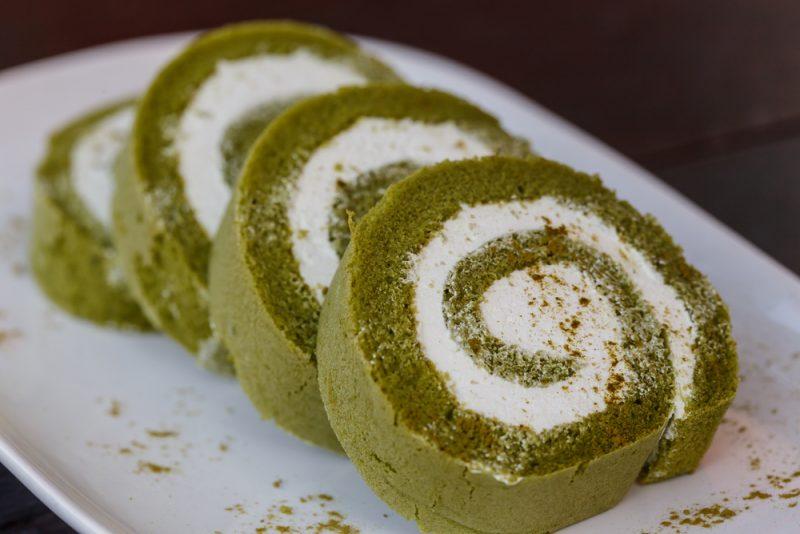 Рулетики с зеленым чаем рецепт