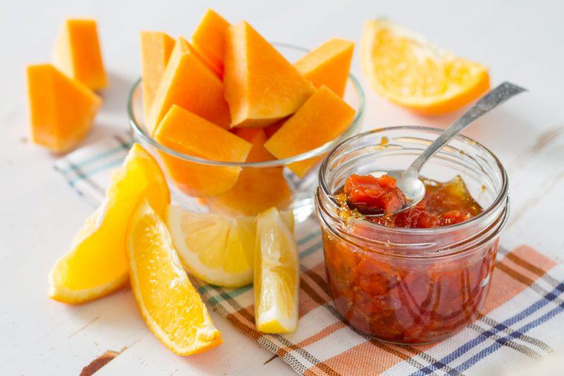 Апельсиновое варенье с тыквой рецепт