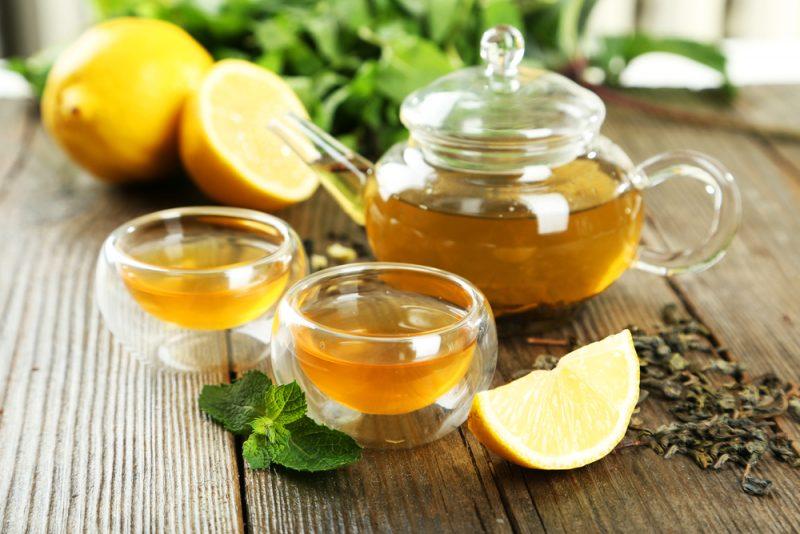 Лимонный напиток с зеленым чаем рецепт