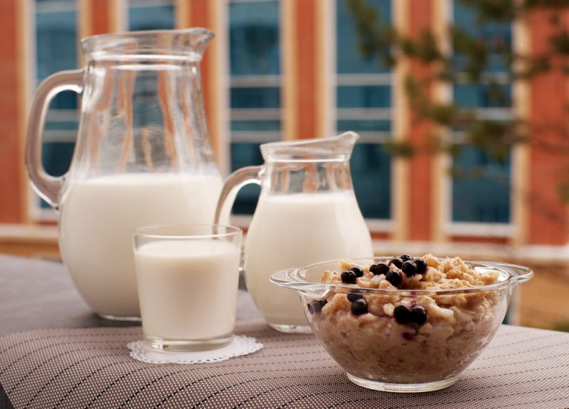 Фото овсяного молока