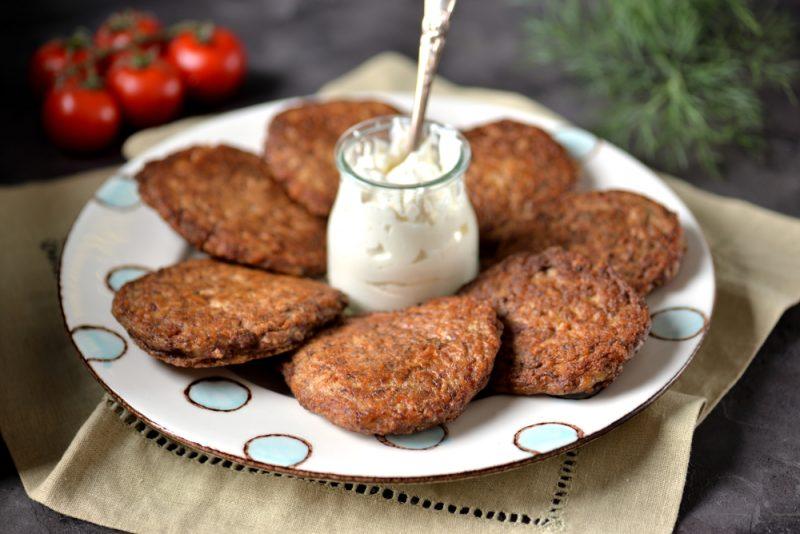Оладьи из куриной печени на кефире рецепт