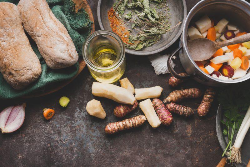 Фото салата из топинамбура